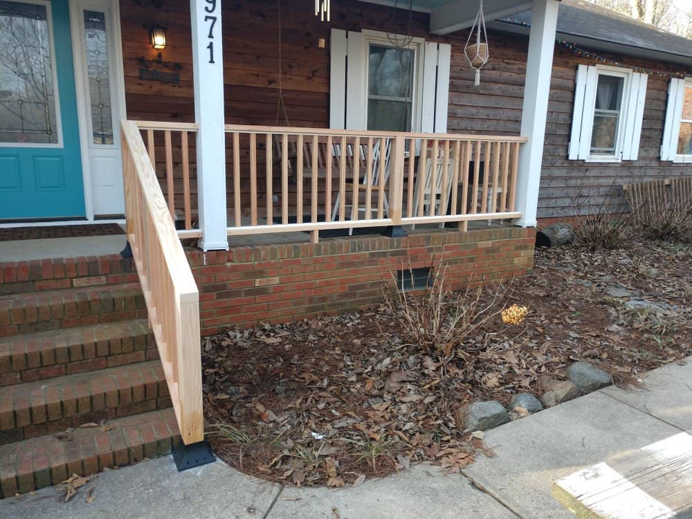 Porch Railing - A n J Construction