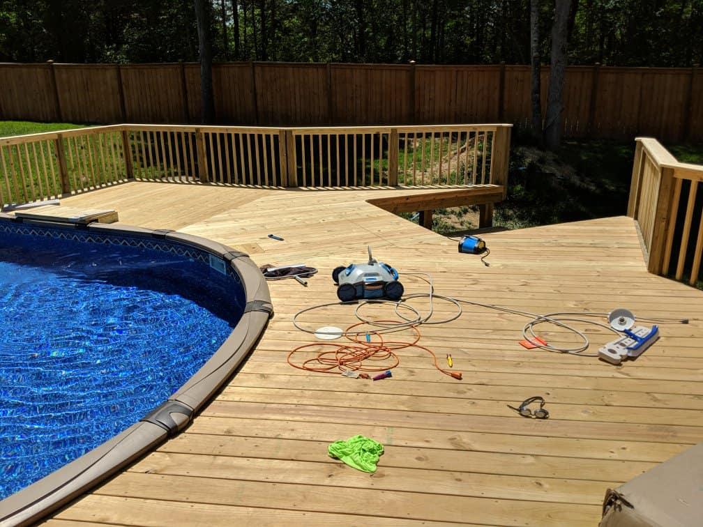 Deck Around Pool - North Carolina - A n J Construction