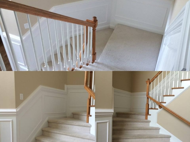 Wainscot Inn Stairway - A n J Construction